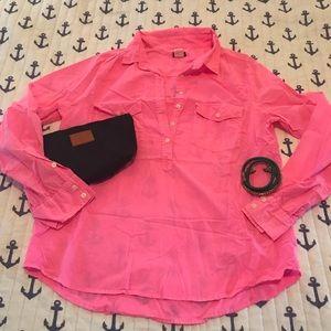 FUN J crew Hot Pink Popover - size M